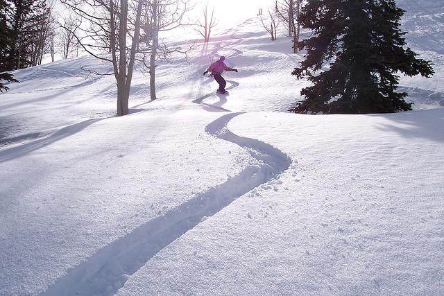 Flickr User Dave O - Kevin's Strapless Snowboard