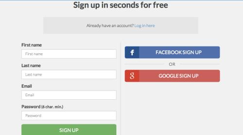 goalmap - create an account