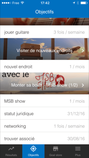L'objectif MSB Show sur goalmap
