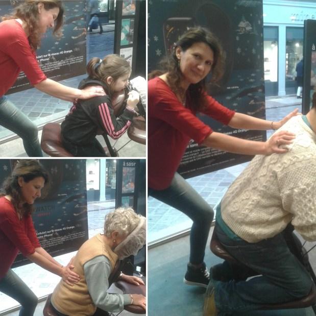 Séance massage assis entreprise