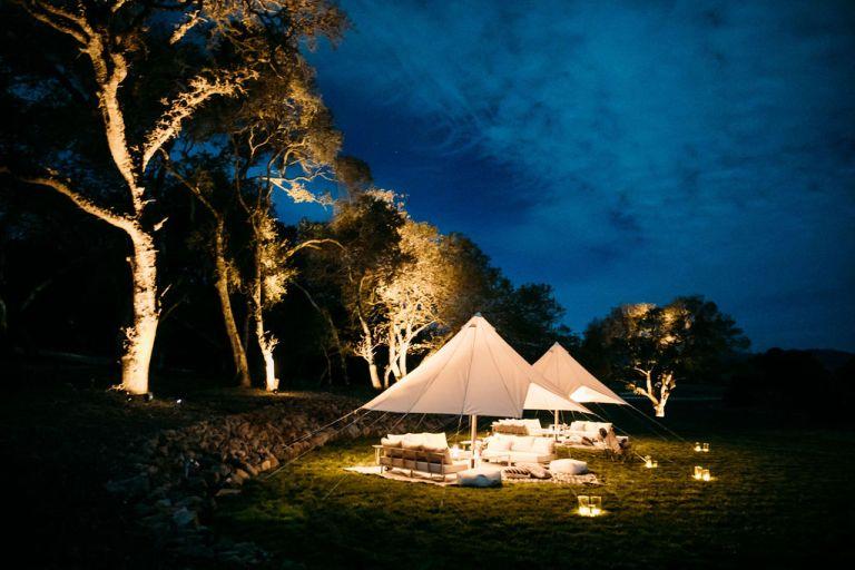 Sonoma Vineyard Estate Outdoor Wedding Reception