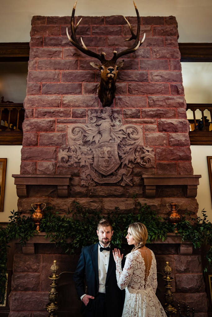 The Redstone Castle bride and groom