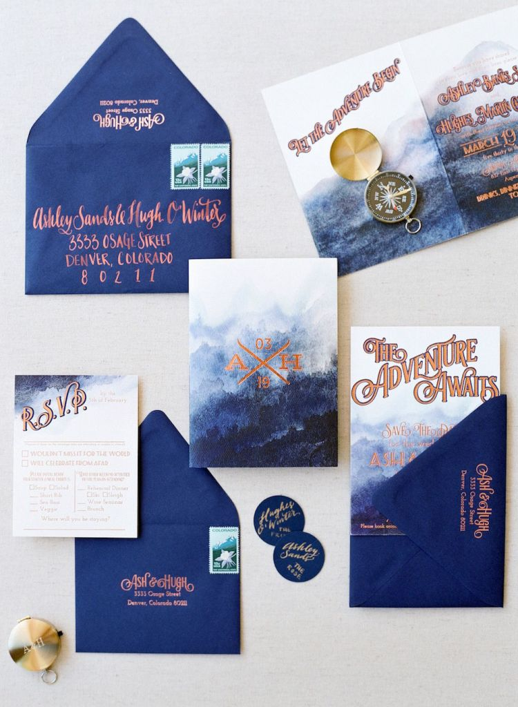 adventure awaits wedding invitation