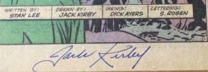 Jack-Kirby-Avengers-1-autograph-2-300x105 What's a Jack Kirby Autograph Worth?