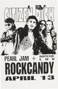 Citizen-Dick-196x300 Walk the Long Road With These Pearl Jam Related Vintage Posters