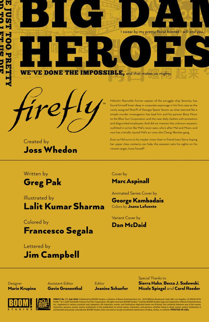 Firefly_017_PRESS_2 ComicList Previews: FIREFLY #17