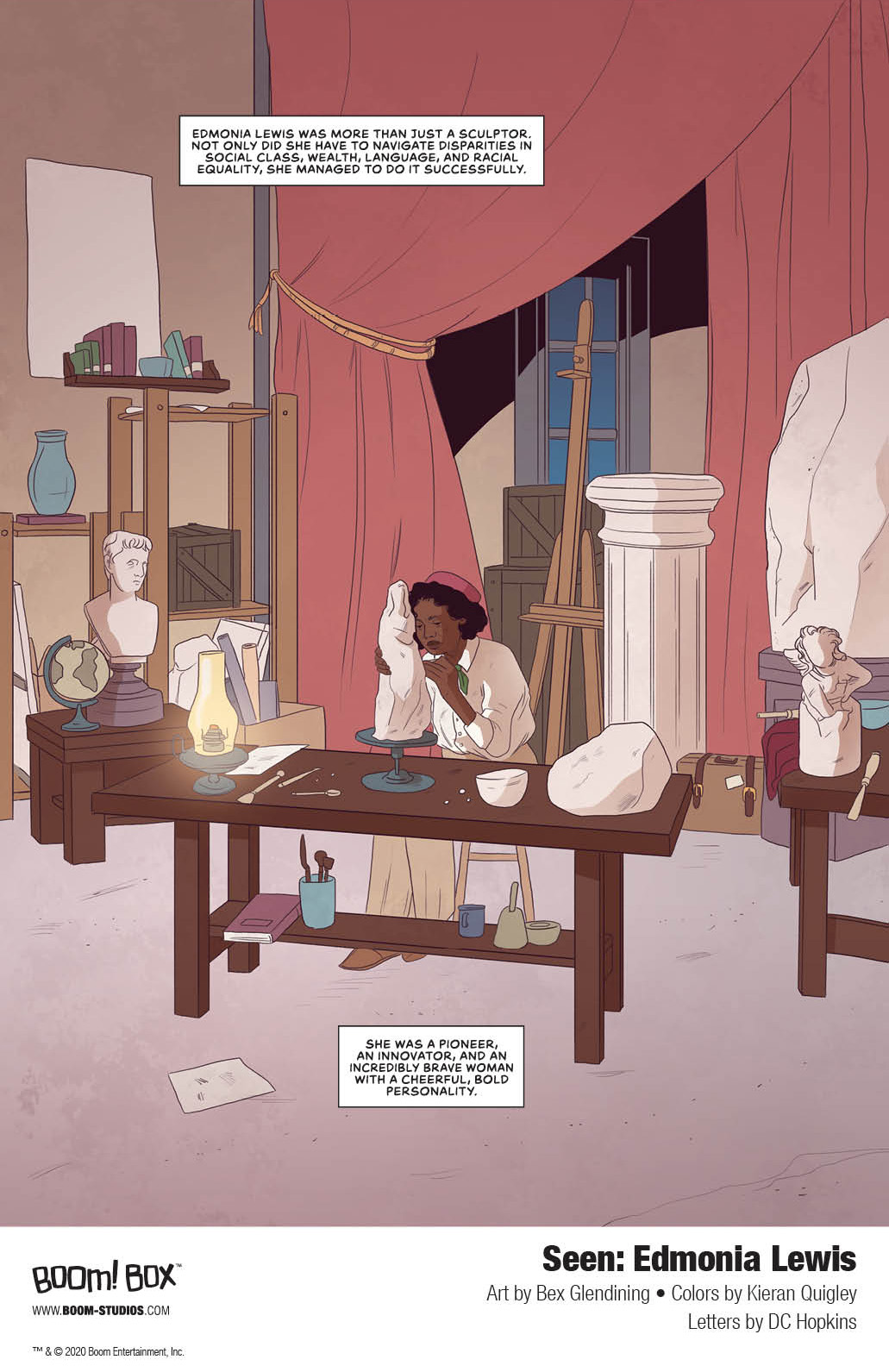 Seen_EdmoniaLewis_Interiors_002_PROMO Discover the spectacular story of sculptor Edmonia Lewis in BOOM! Studios' SEEN