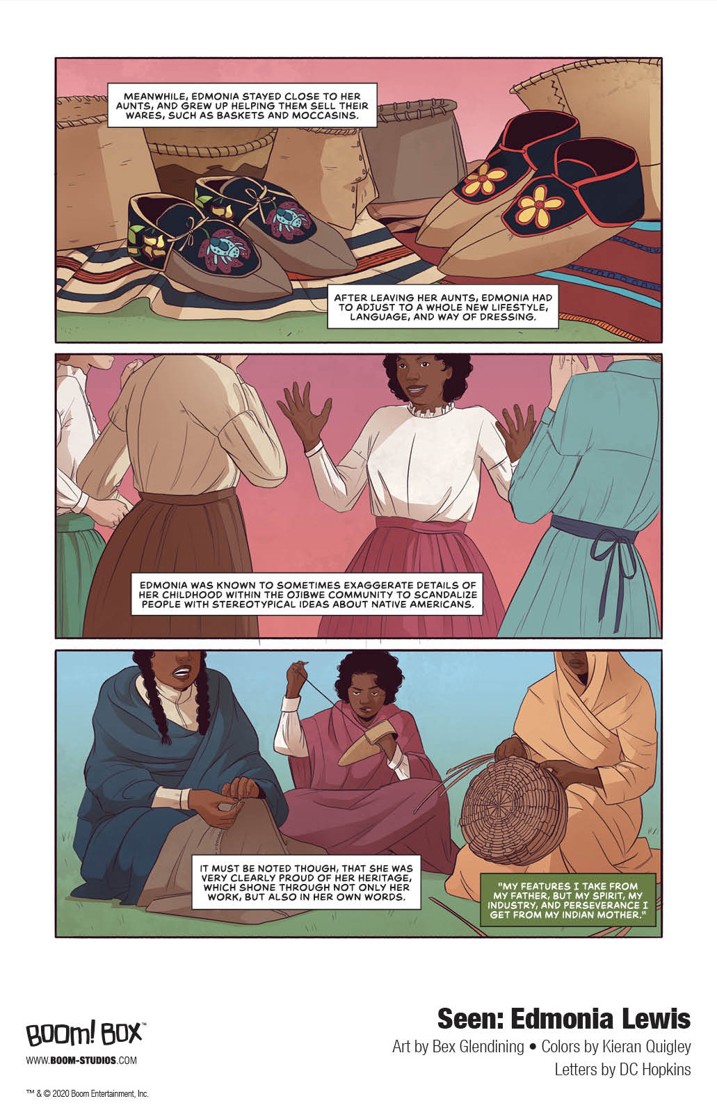 Seen_EdmoniaLewis_Interiors_004_PROMO Discover the spectacular story of sculptor Edmonia Lewis in BOOM! Studios' SEEN