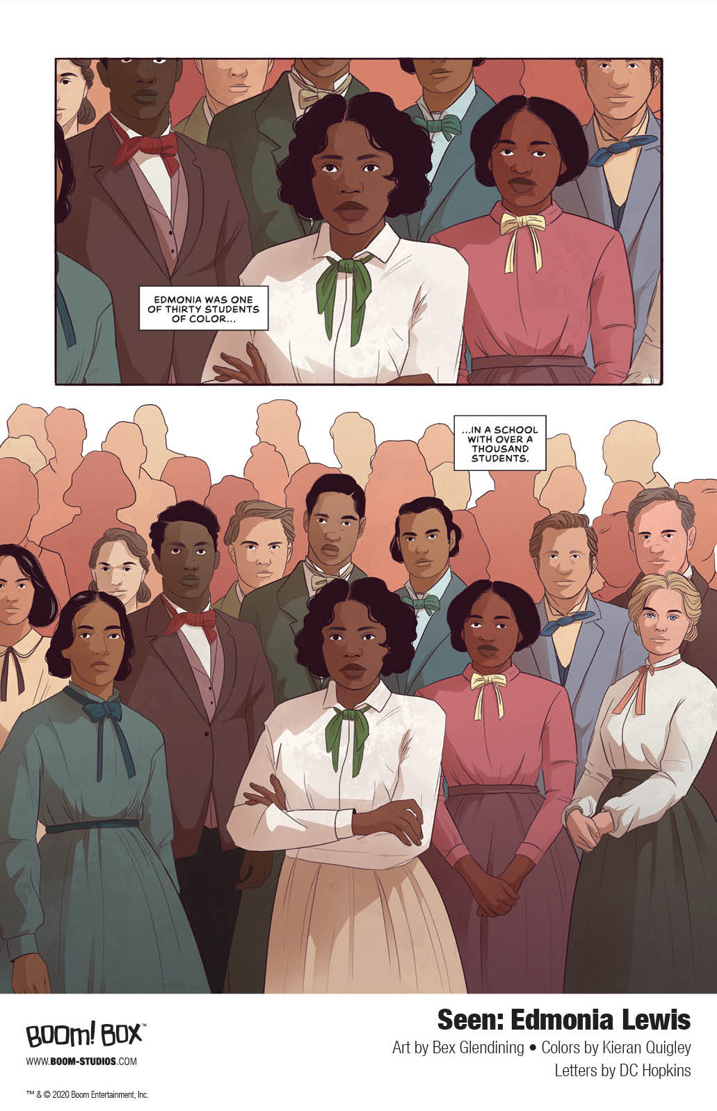 Seen_EdmoniaLewis_Interiors_007_PROMO Discover the spectacular story of sculptor Edmonia Lewis in BOOM! Studios' SEEN