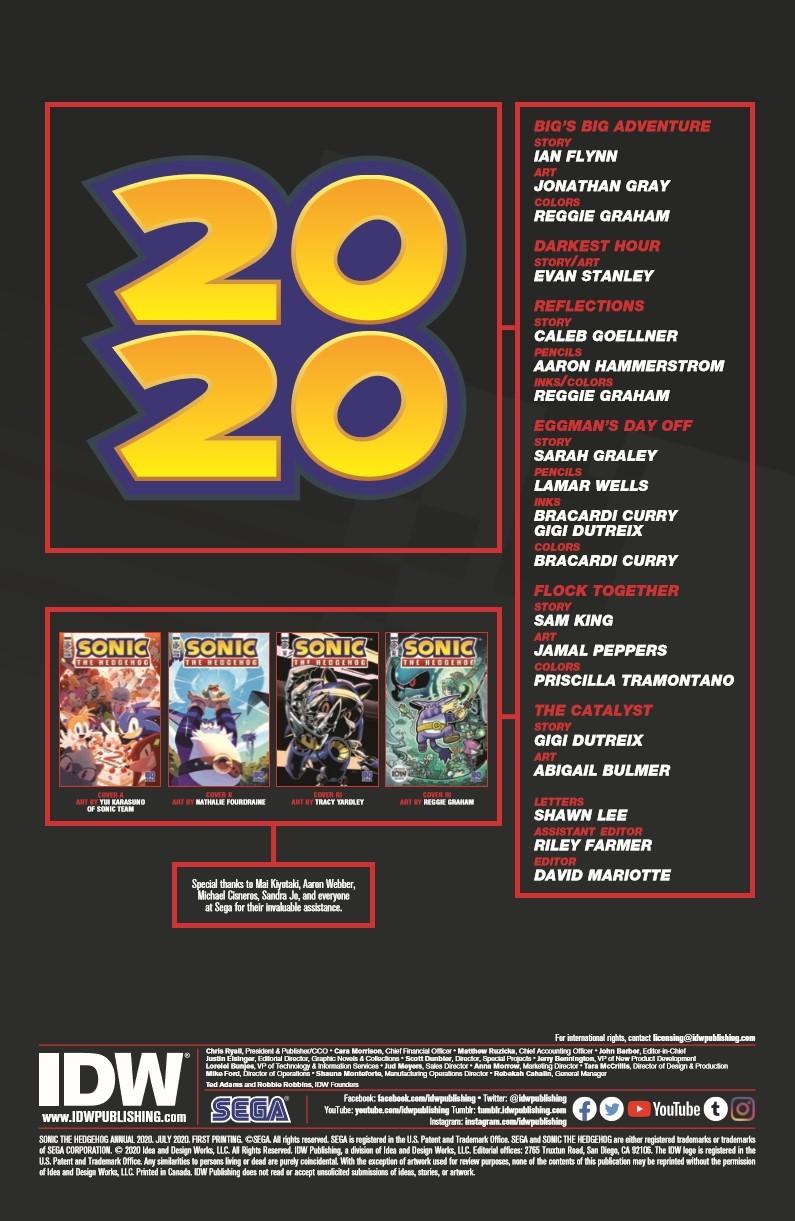 SonicAnnual2020_pr-2 ComicList Previews: SONIC THE HEDGEHOG ANNUAL 2020