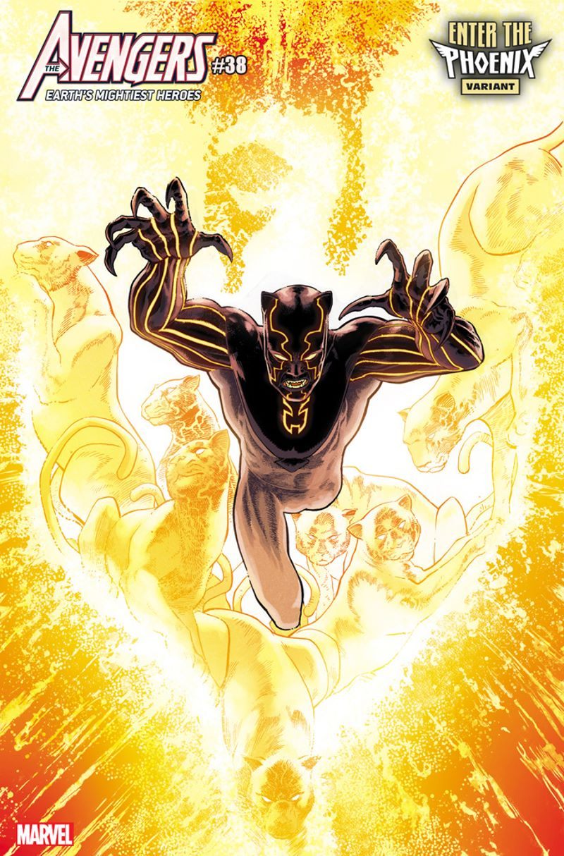 AVENGERS-38-KUDER-BLACK-PANTHER-PHOENIX-VARIANT The Phoenix claims new hosts in these variant covers