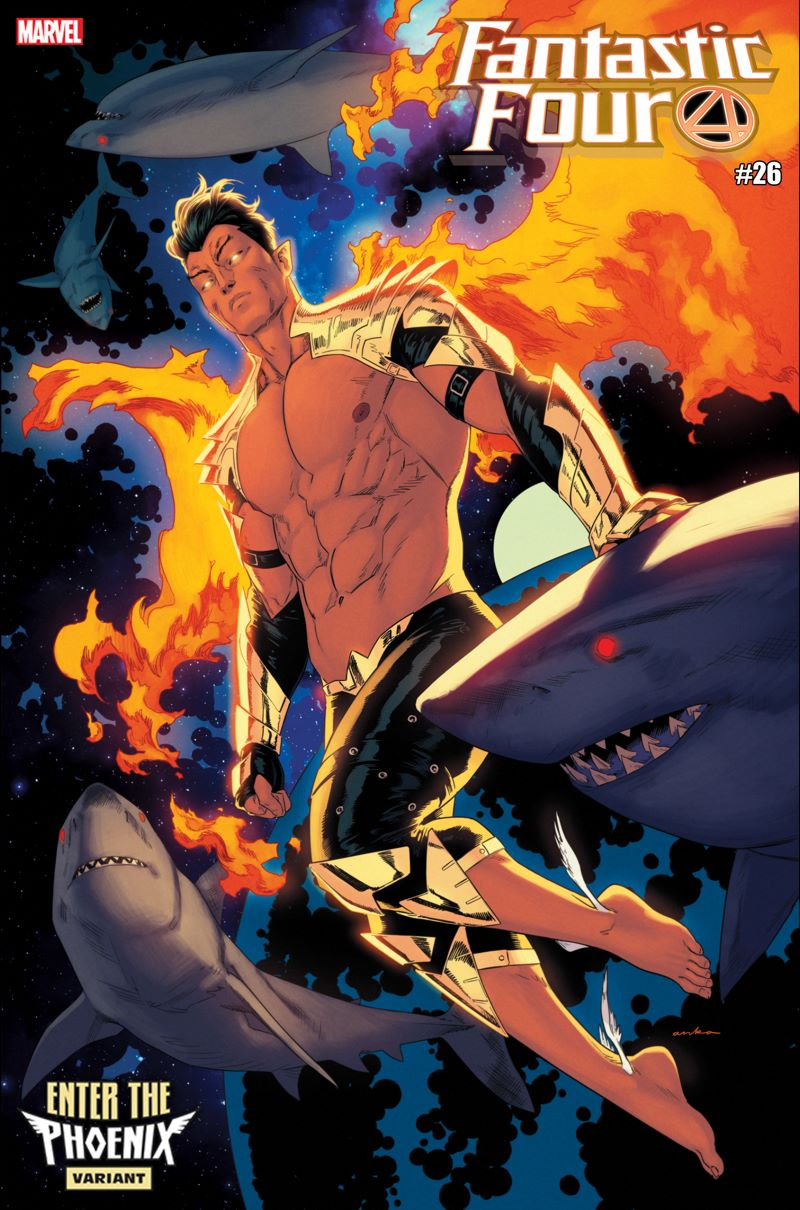 FANTASTIC-FOUR-26-ANKA-NAMOR-PHOENIX-VARIANT The Phoenix claims new hosts in these variant covers