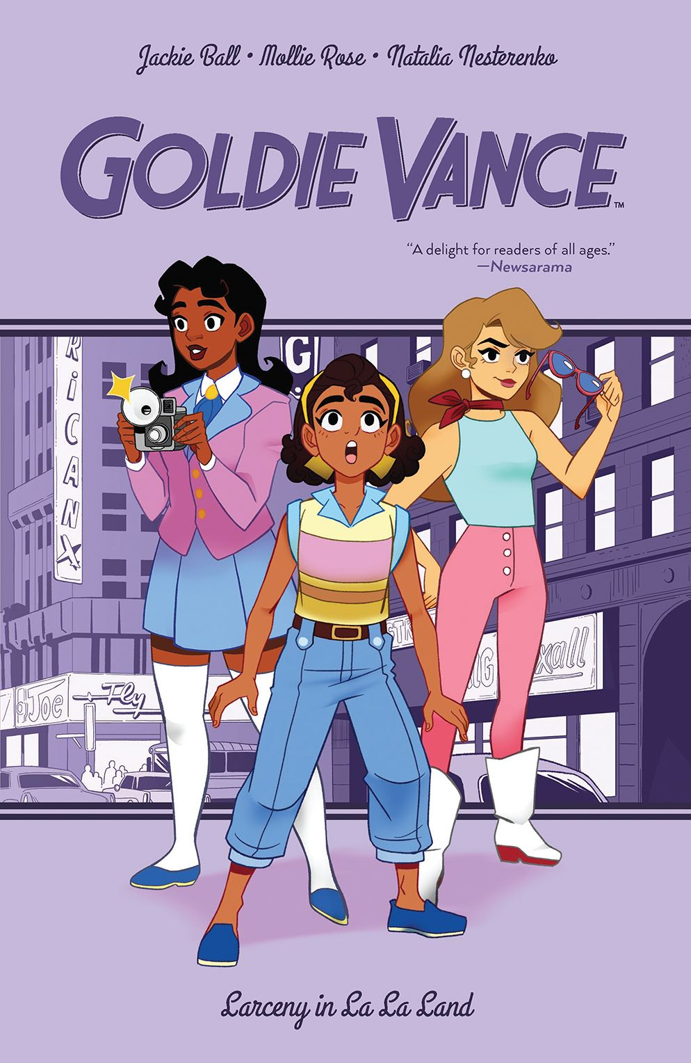 GoldieVance_OGN_LaLaLarceny_SC_Cover ComicList Previews: GOLDIE VANCE VOLUME 5 LARCENY IN LA LA LAND TP
