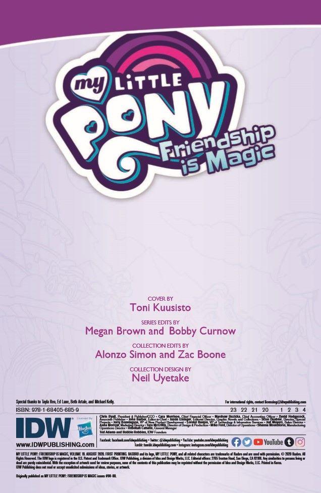 MLP_TPBv19-pr-2 ComicList Previews: MY LITTLE PONY FRIENDSHIP IS MAGIC VOLUME 19 TP