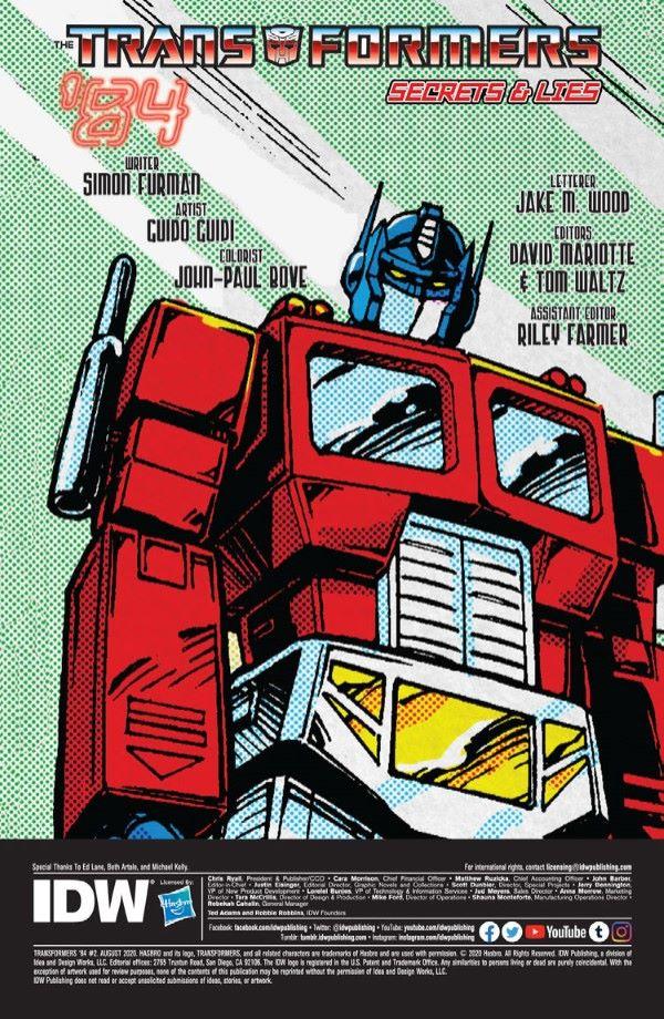 Transformers84_02-preview-2-2 ComicList Previews: TRANSFORMERS '84 SECRETS AND LIES #2