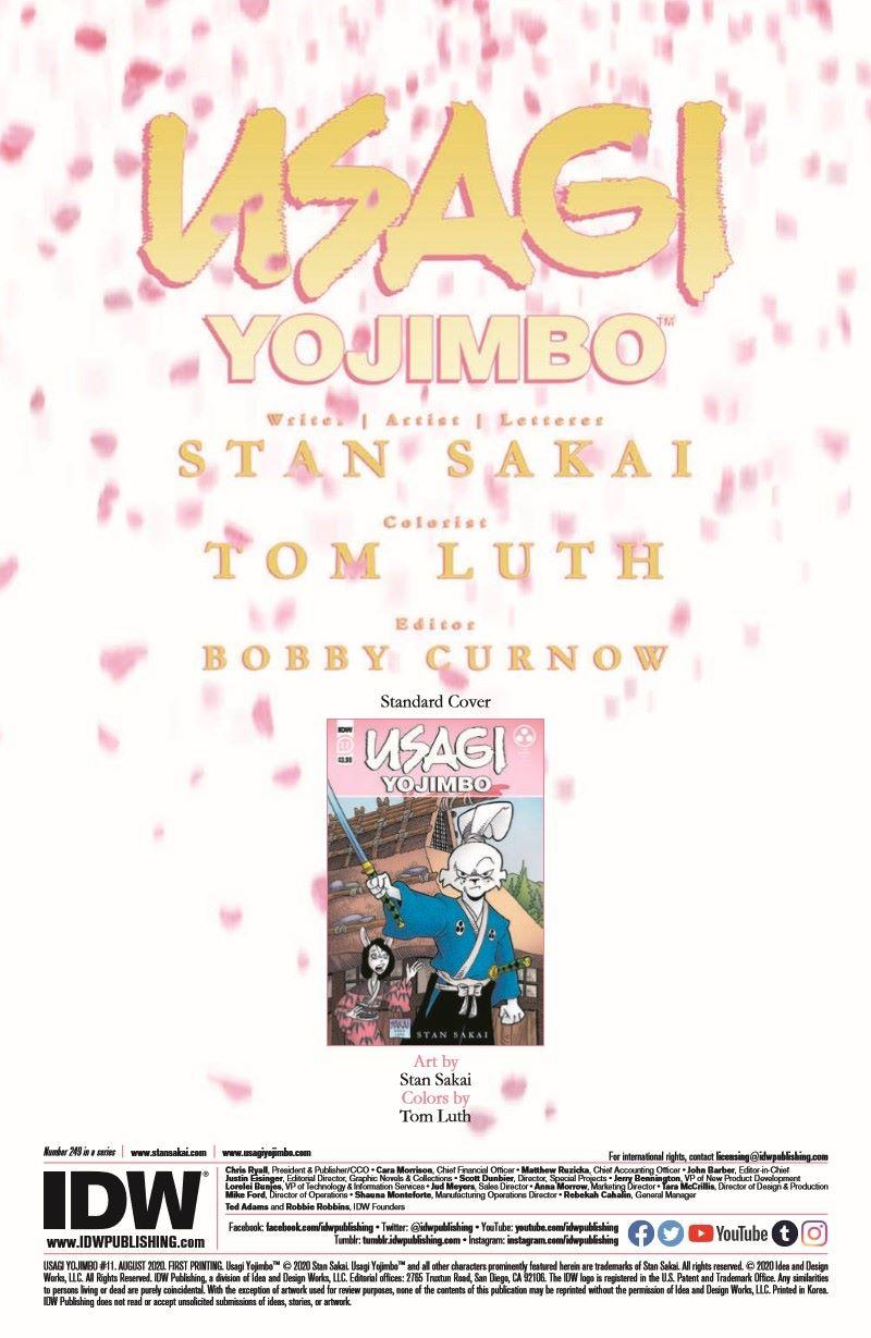 Usagi11_pr-2 ComicList Previews: USAGI YOJIMBO #11