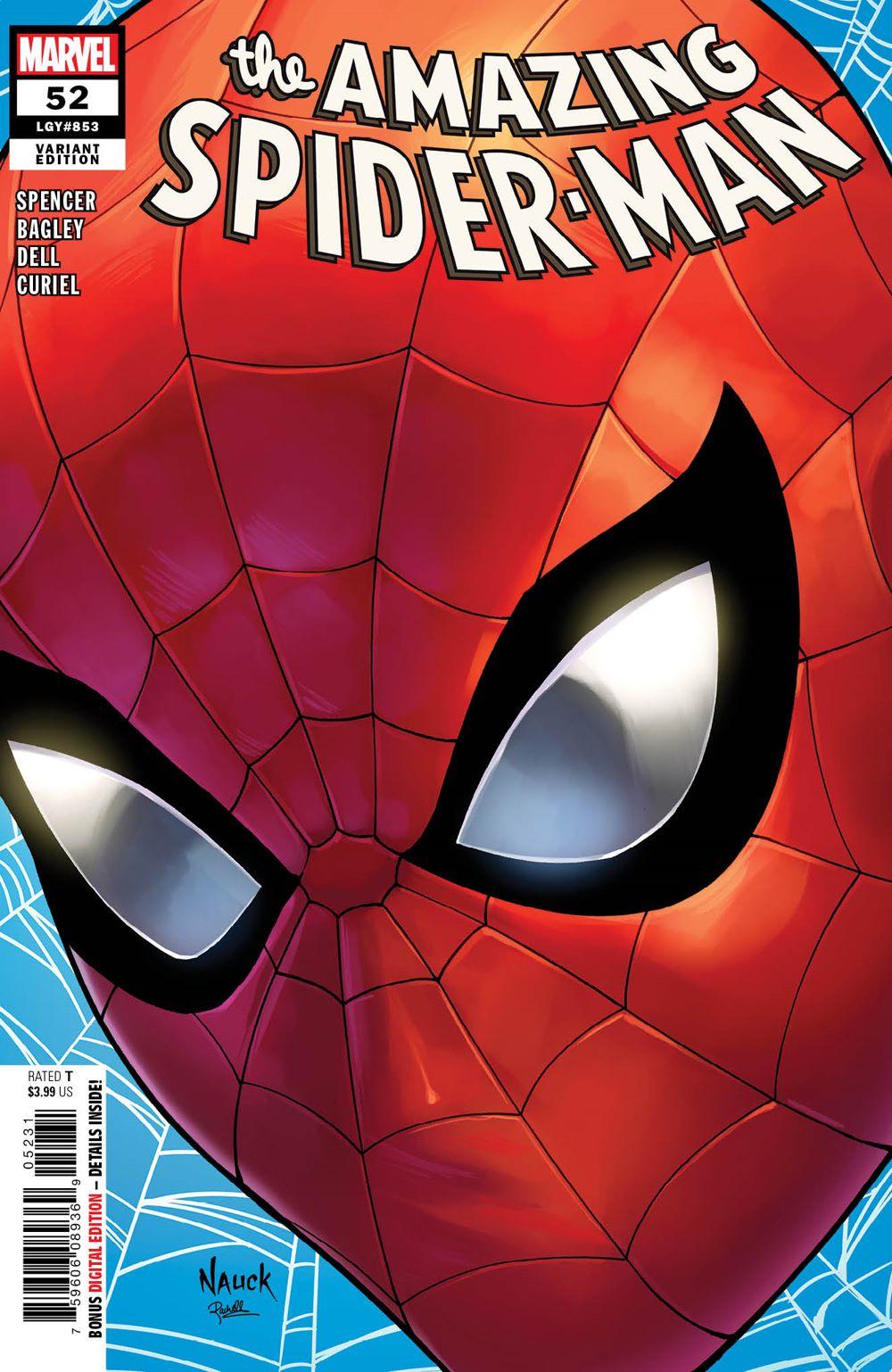AMAZING-SPIDER-MAN-52-NAUCK-HEADSHOT-VARIANT Todd Nauck to draw Headshot Variant Covers for Marvel this November