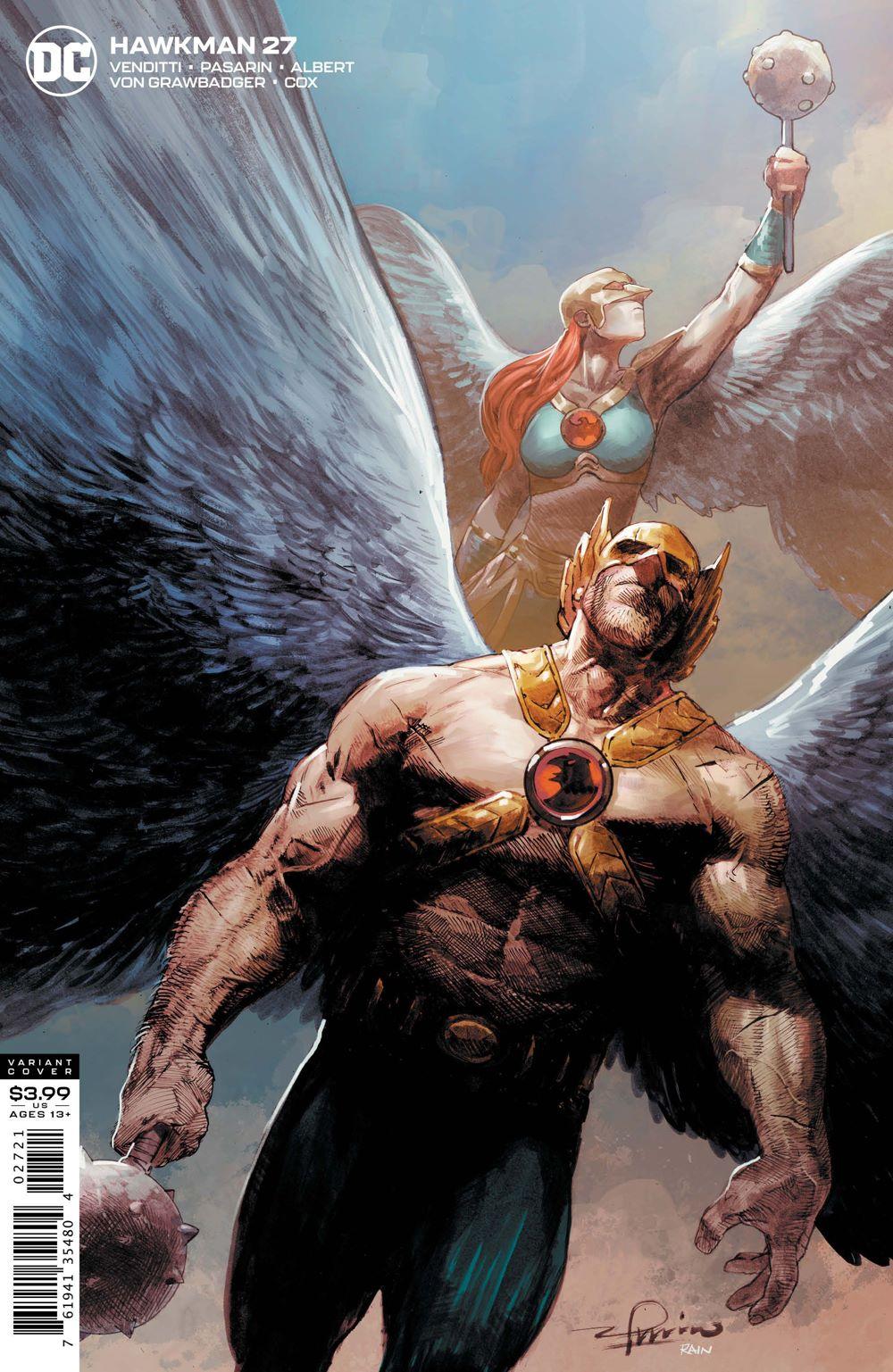 HWKM-Cv27-var ComicList Previews: HAWKMAN #27