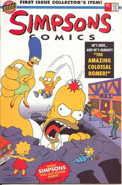 BARTMAN #1 NEAR MINT 1993 SIMPSONS BONGO COMICS with poster