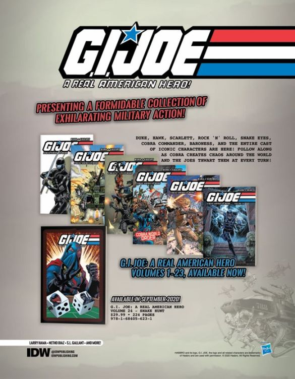 GIJOE_Previews_Backlist IDW Publishing December 2020 Solicitations