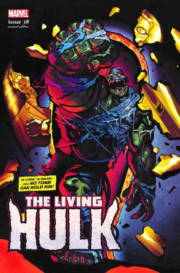 IMMORTAL-HULK-38-DEL-MUNDO-LIVING-HULK-HORROR-VARIANT Marvel Comics will issue timely Horror Variant covers this October