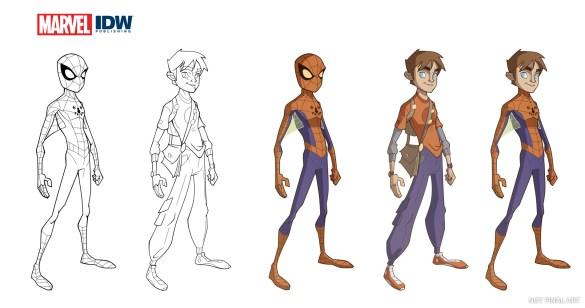 Spider-Man-INK-Cols-1 IDW Publishing November 2020 Solicitations