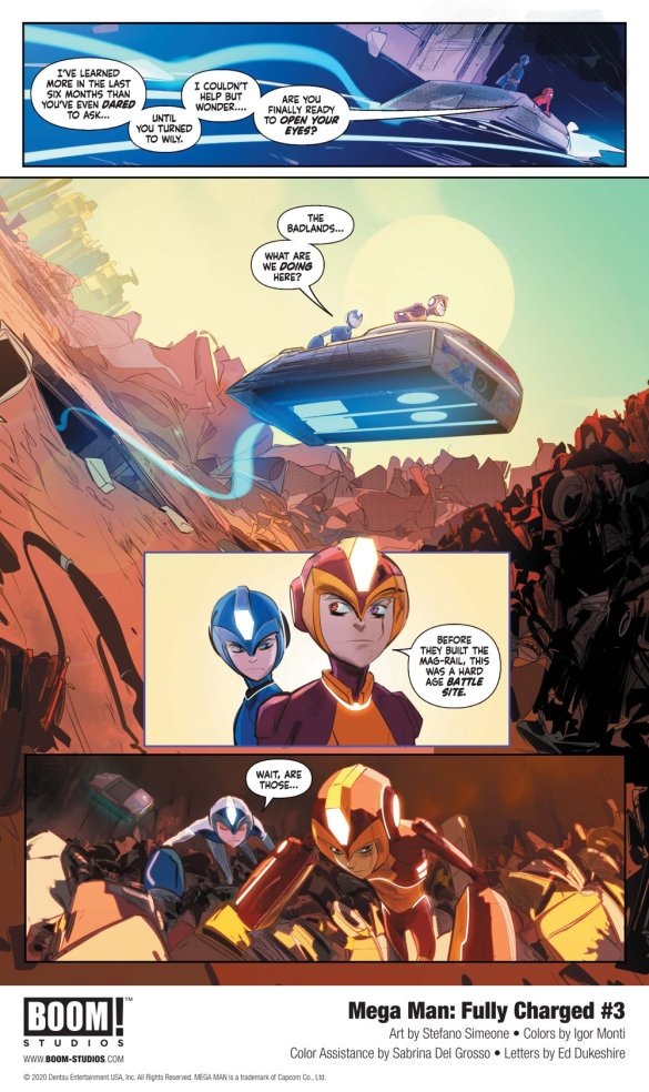 MegaMan_FullyCharged_003_InteriorArt_004_PROMO First Look at BOOM! Studios' MEGA MAN: FULLY CHARGED #3