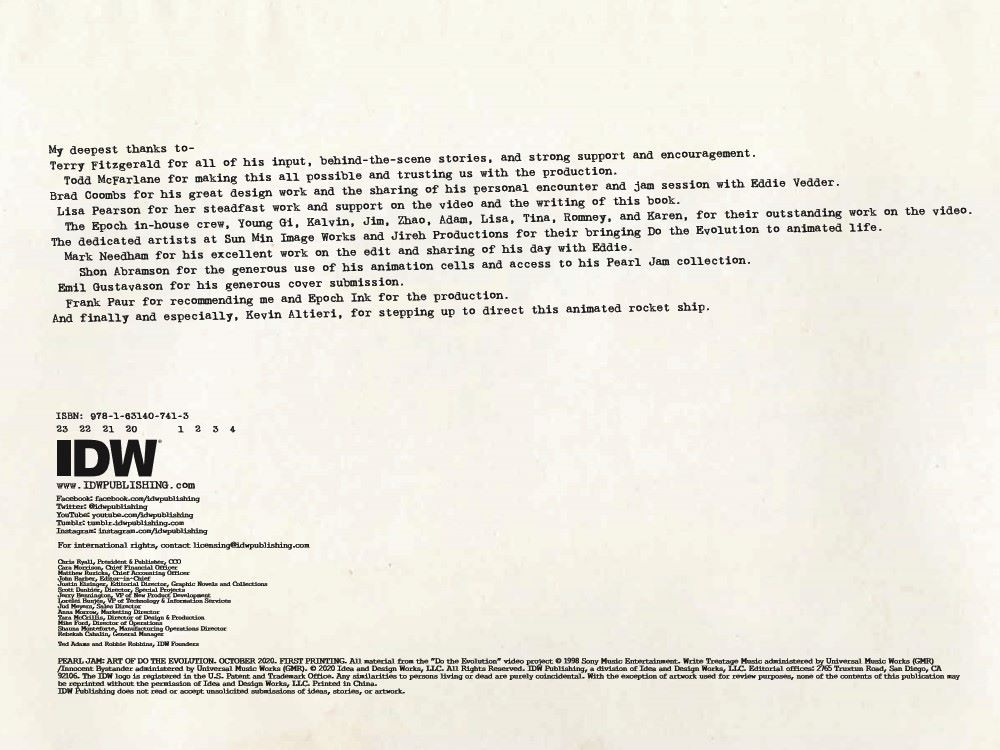 Pearl_Jam-pr-2 ComicList Previews: PEARL JAM ART OF DO THE EVOLUTION HC