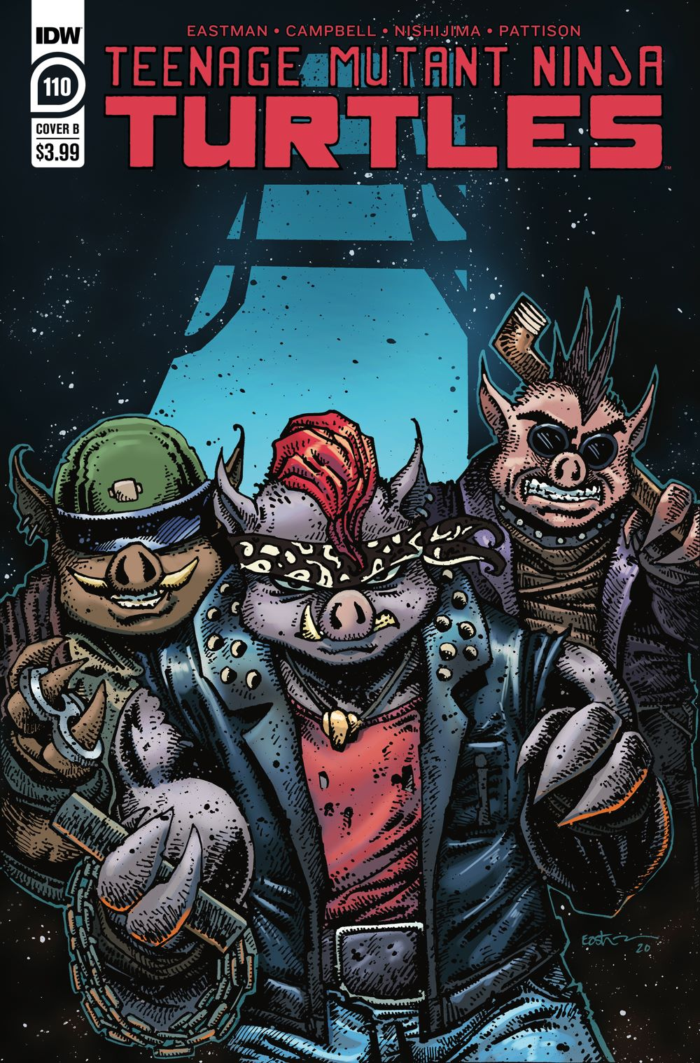 TMNT110_cvrB ComicList Previews: TEENAGE MUTANT NINJA TURTLES #110
