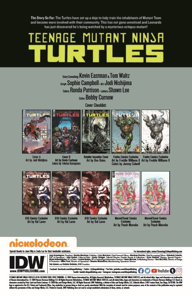 TMNT110_pr-2 ComicList Previews: TEENAGE MUTANT NINJA TURTLES #110