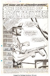 Captain-Savage-and-his-Leatherneck-Raiders-2-Page-1-198x300 War, What's It Good For: Artists Joe Kubert and Dick Ayers