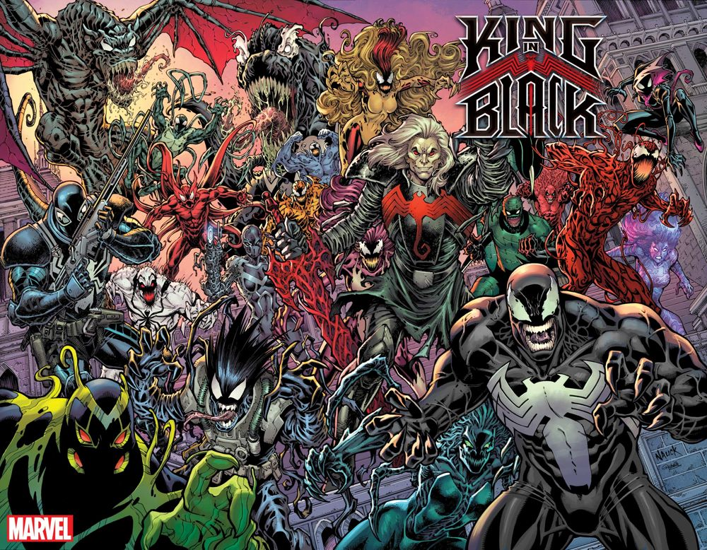 KINGINBLACK2020001_EVERY-SYMBIOTE-EVER-Variant Every Symbiote Ever will be featured on Todd Nauck's KING IN BLACK #1 variant