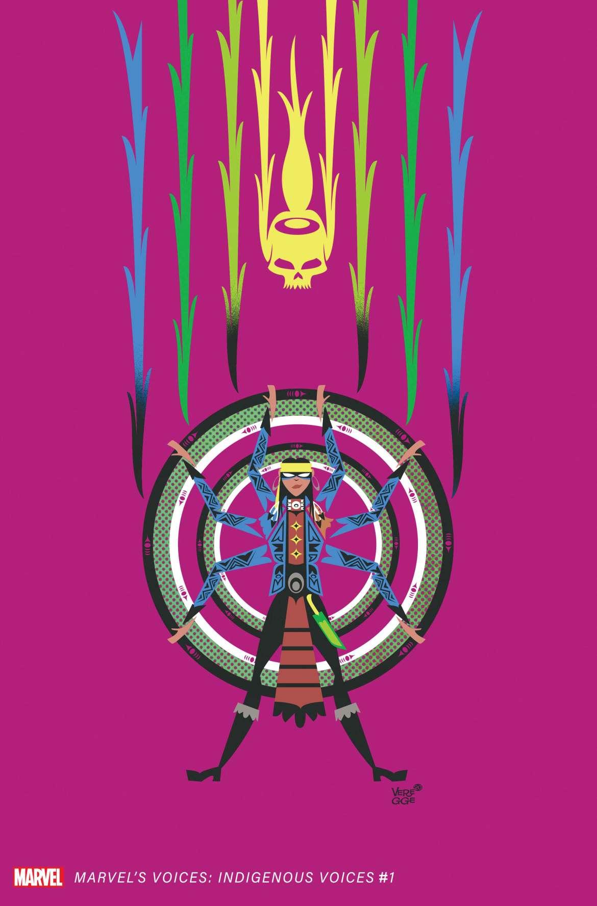 MARINDVOICES2020001_Veregge-Kushala-var Jeffrey Veregge's MARVEL'S VOICES: INDIGENOUS VOICES #1 variant features The Demon Rider