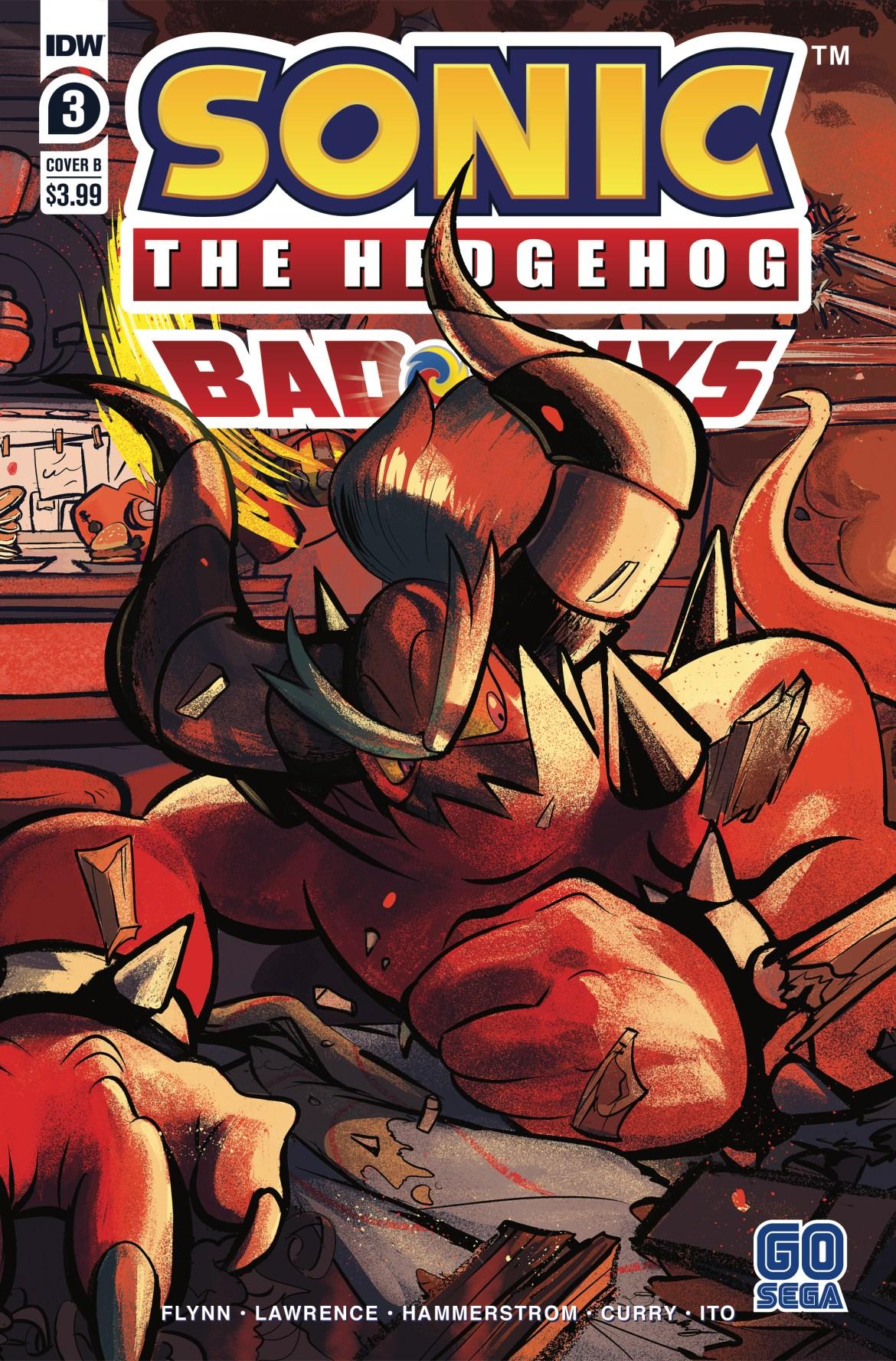 STH-BG03_cvrB ComicList Previews: SONIC THE HEDGEHOG BAD GUYS #3 (OF 4)