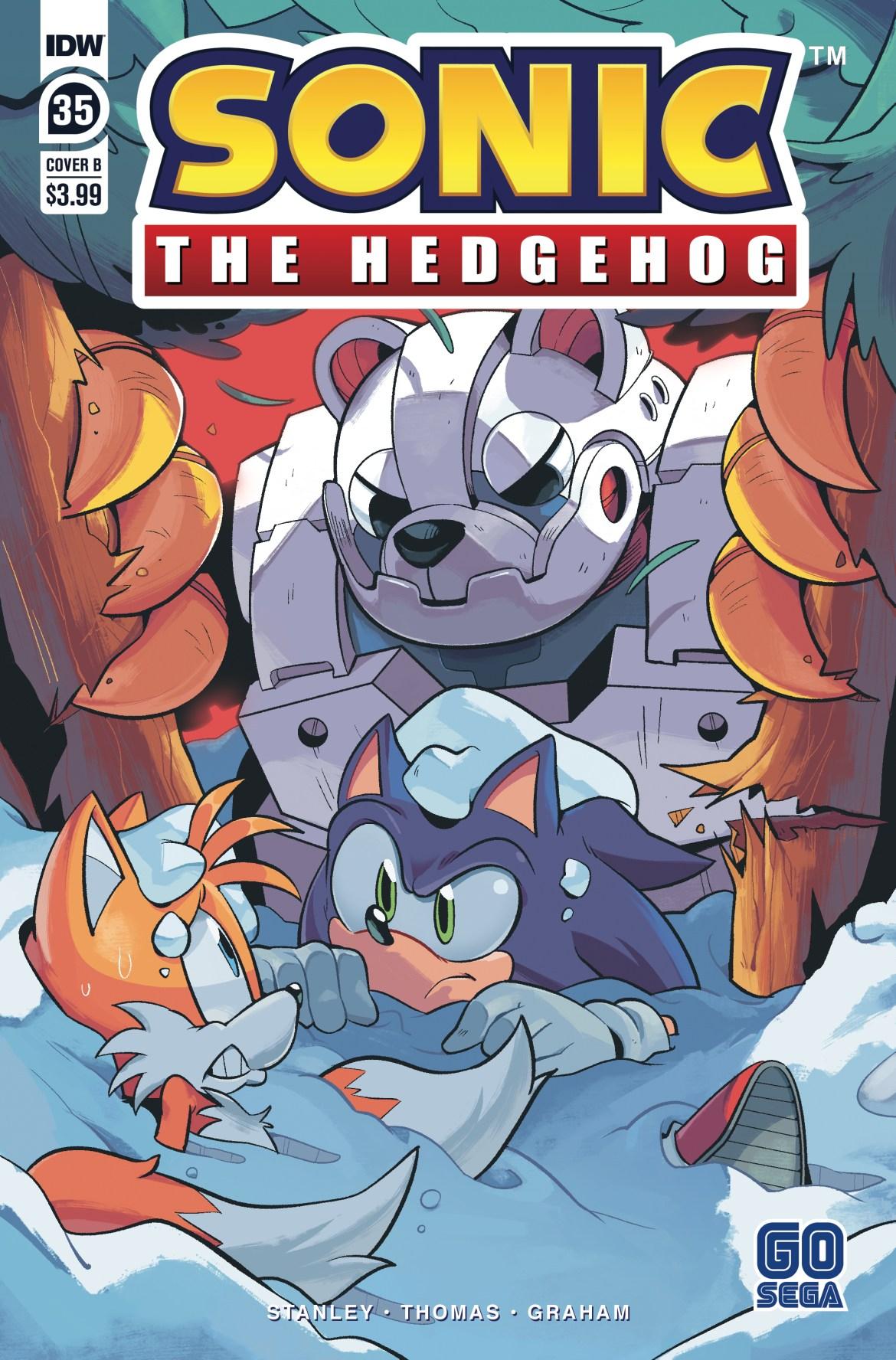 STH35_cvrB ComicList Previews: SONIC THE HEDGEHOG #35