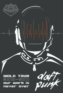 daft-punk-3-205x300 Around The World: Collecting Daft Punk Concert Posters