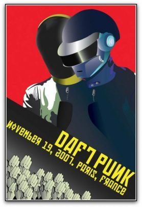 daft-punk-poster-2-207x300 Around The World: Collecting Daft Punk Concert Posters