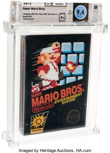 mario-217x300 Vintage Sealed Video Game Values Spiking at Auction