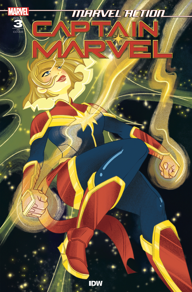 CaptainMarvel_RIcvr_01 IDW Publishing March 2021 Solicitations