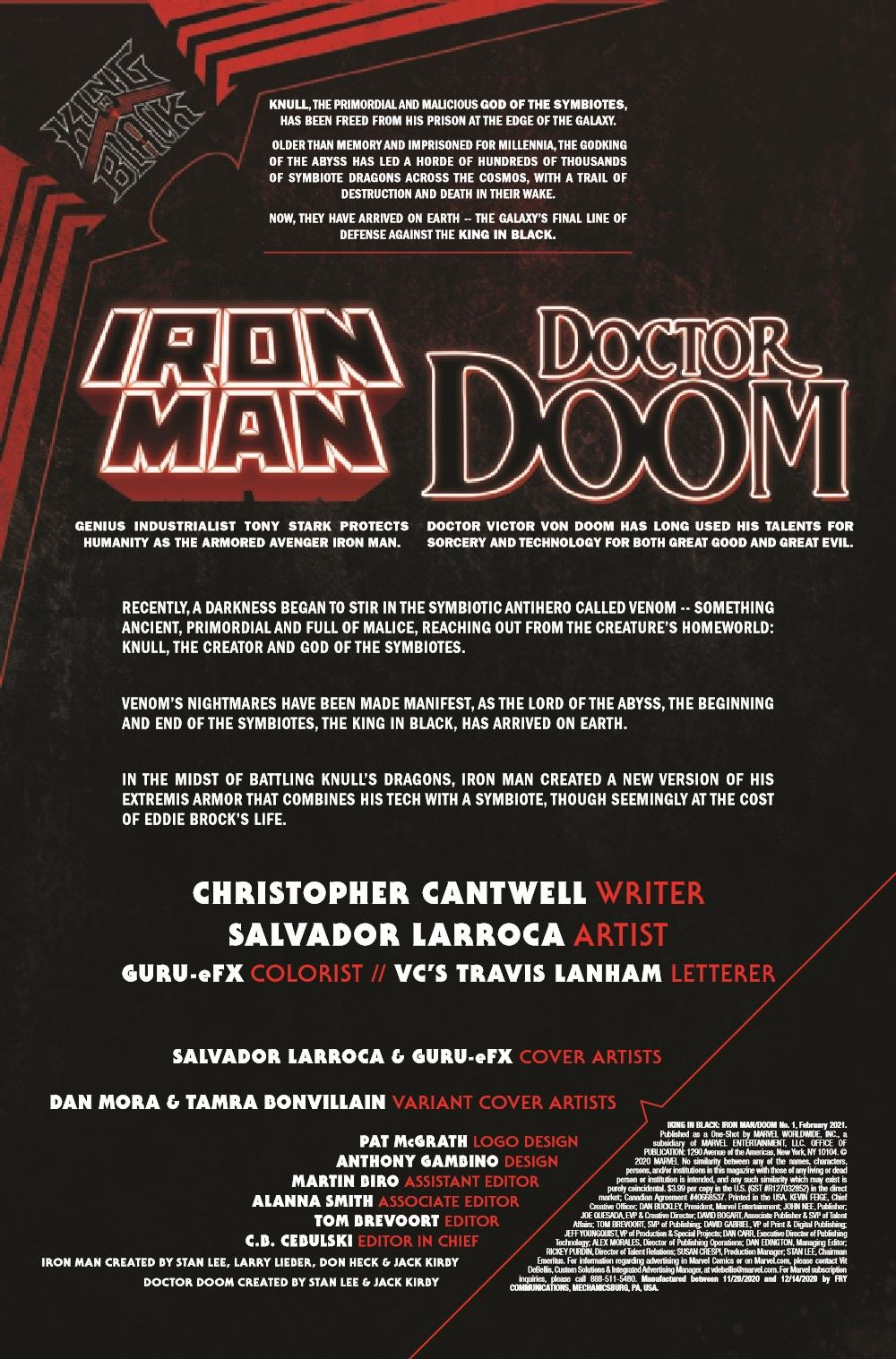 IMKIB2020001_Preview-2 ComicList Previews: KING IN BLACK IRON MAN DOCTOR DOOM #1