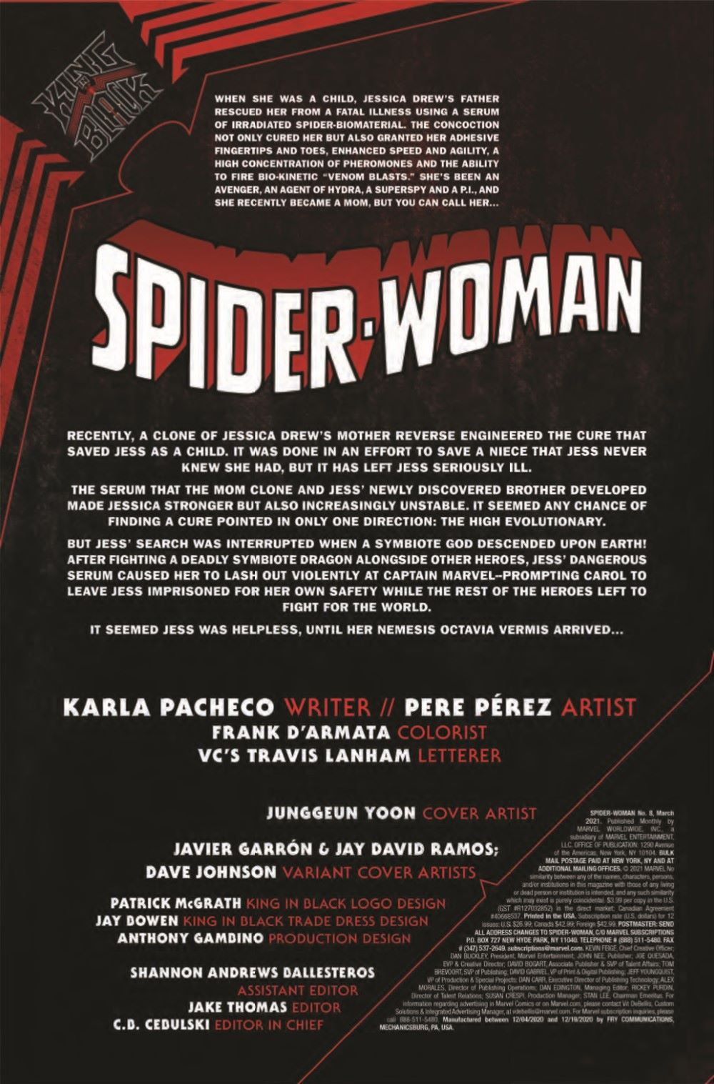 SWOMAN2020008_Preview-2 ComicList Previews: SPIDER-WOMAN #8