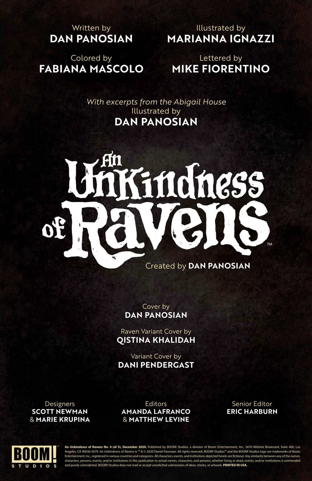 UnkindnessRavens_004_PRESS_2 ComicList Previews: AN UNKINDNESS OF RAVENS #4 (OF 4)