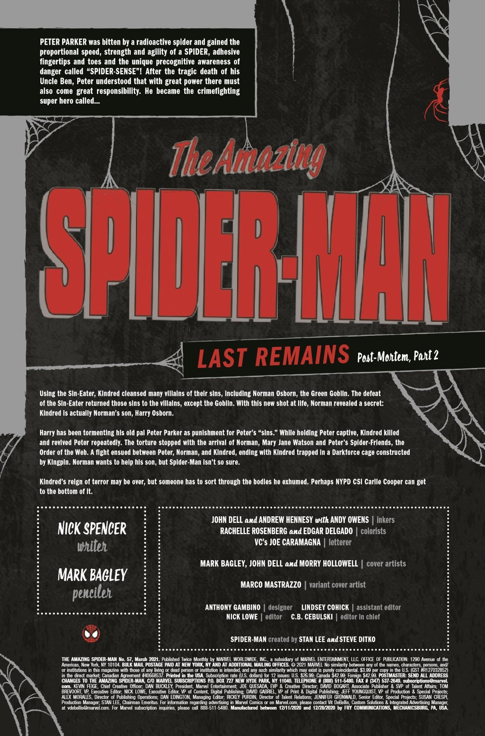 ASM2018057_Preview-2 ComicList Previews: THE AMAZING SPIDER-MAN #57