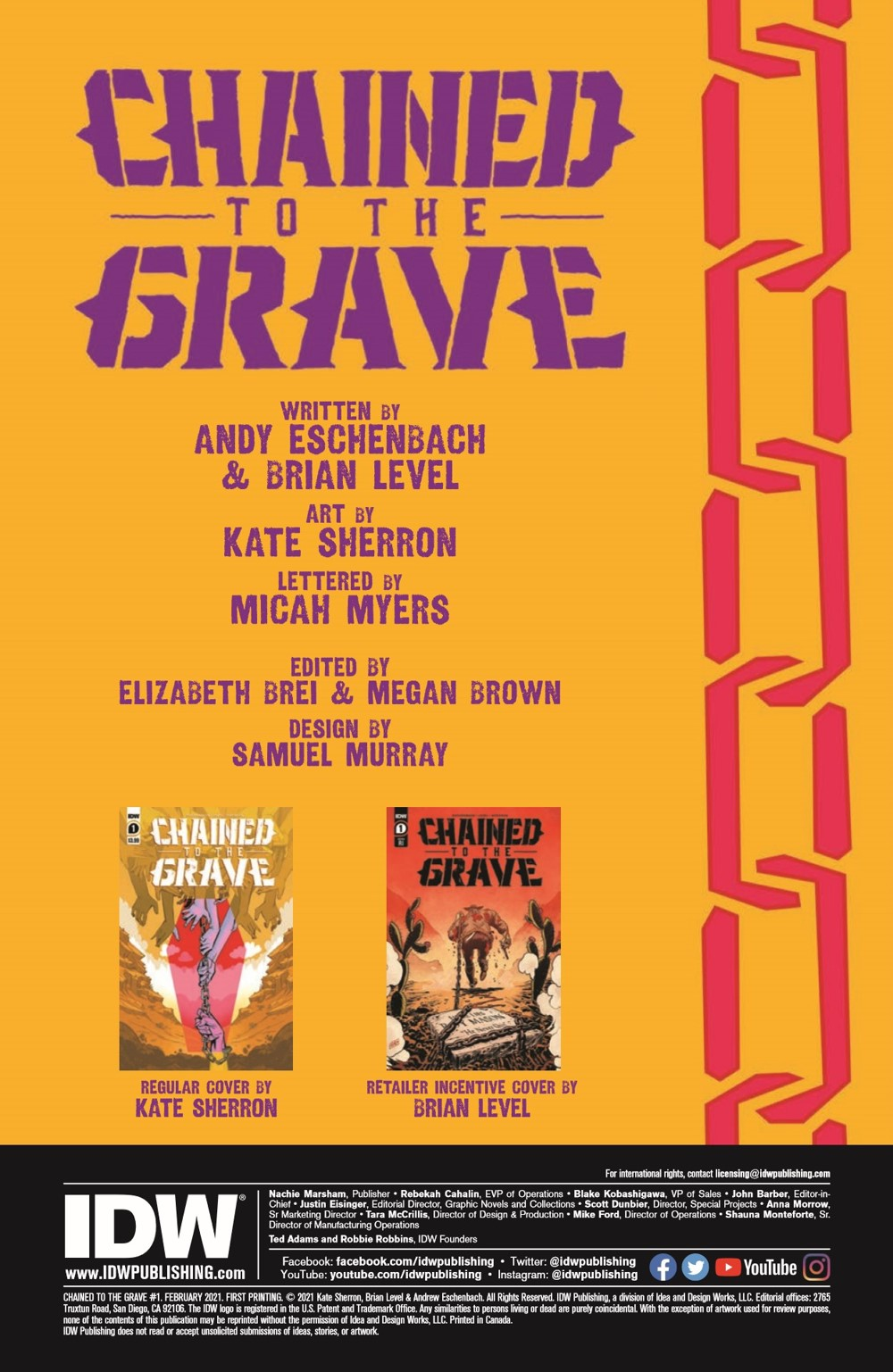 CttG01-pr-2 ComicList Previews: CHAINED TO THE GRAVE #1 (OF 5)
