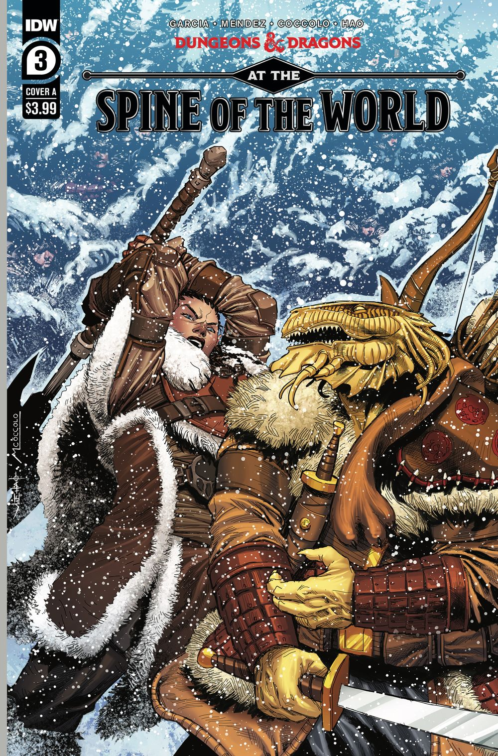 DD_ATSOTW03-coverA ComicList Previews: DUNGEONS AND DRAGONS AT THE SPINE OF THE WORLD #3 (OF 4)