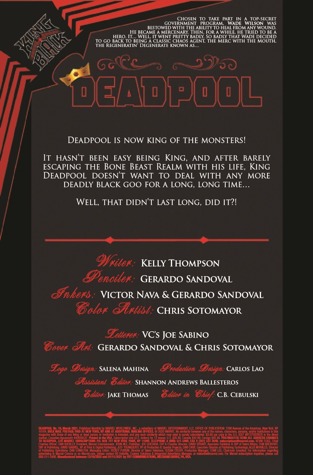 DPOOL2019010_Preview-2 ComicList Previews: DEADPOOL #10
