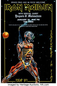 Iron-Maiden-Cyborg-199x300 The Many Eddies of Iron Maiden Concert Posters
