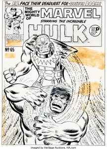 Mighty-World-of-Marvel-65-reprinting-Incredible-Hulk-113-by-Ron-Wilson-216x300 Foreign Variants Original Art - Famous Artists Low Prices