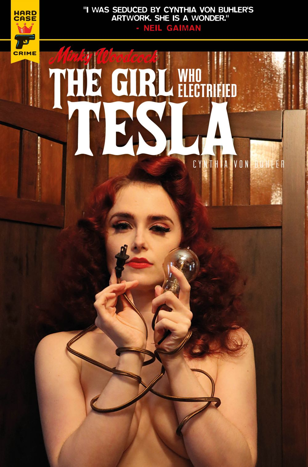 Minky-Woodcock-Cover-C-Photo Minky Woodcock returns in THE GIRL WHO ELECTRIFIED TESLA