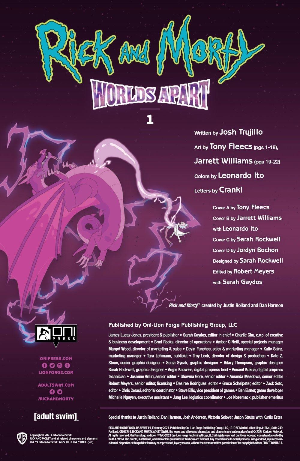 RICKMORTY-WORLDSAPART-1-MARKETING-05 ComicList Previews: RICK AND MORTY WORLDS APART #1